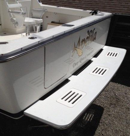 Fiberglass Transom Platforms Butler Marine Products